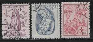 CZECHOSLOVAKIA, B163-B165, (3)SET, USED, 1948, BAREFOOT BOY