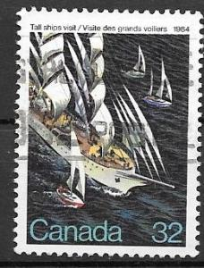 Canada 1984 32 cent Tall Ships, used. Scott #1012