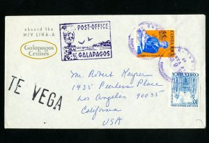 Costa Rica Stamps Scarce Cover to Galapagos Islands via Cruiseship