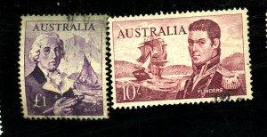 AUSTRALIA #377-8 USED FVF Cat $35