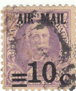 Canal Zone, Scott #C4 - 10c on 50c lilac - Used