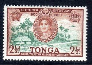 TONGA --  1951 -- SG 97  -   2 1/2d   value     MM
