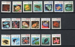 Palau 1983 1984 Scott 9-21 and 75-81 Marine Life of Palau CV $24.55