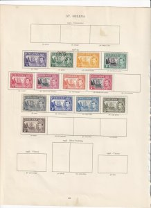 ST HELENA CROWN ALBUM PAGES  VALUES TO 1/- MOUNTED MINT