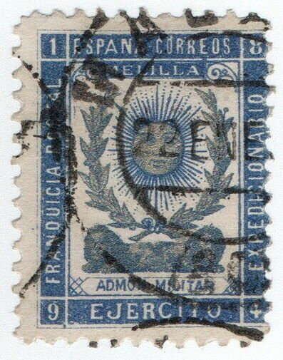 (I.B-CK) Spain Colonial Postal : Melilla Military Post (Staff)