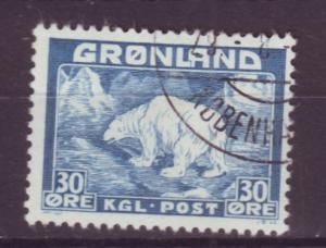 J16548  JLstamps 1938-46 greenland used #7 polar bear
