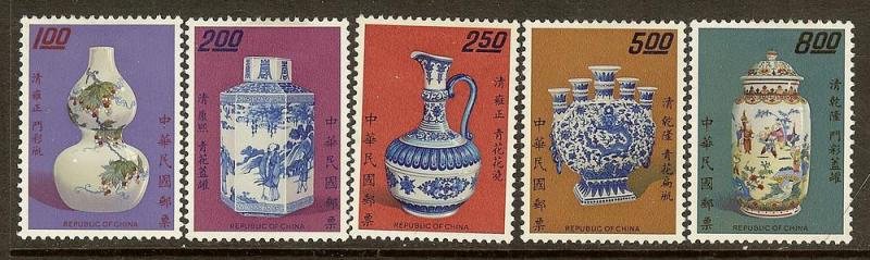 China, Scott #1758-1762, Porcelain Series I, MH