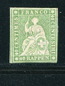 Switzerland #40  Mint F-VF  lightly hinged   - Lakeshore Philatelics