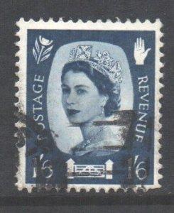 GB Regional N Ireland Scott 6 - SG NI6, 1958 1/6d used