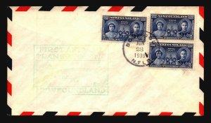 Newfoundland 1939 FFC - Botwood to NY - L3005