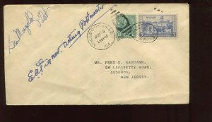 1938 PILOT & PM SIGNED NATL AIR MAIL WEEK COVER MAILED FROM MILLEGEVILLE GA NAMW