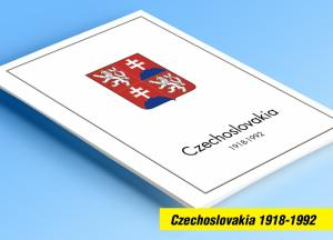 COLOR PRINTED CZECHOSLOVAKIA 1918-1992 STAMP ALBUM PAGES (378 illustrated pages)