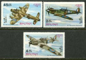 BHUTAN Sc#88-88B 1967 Battle of Britain Complete Set OG Mint NH
