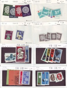 Z651 JLstamps germany DDR mh/mhr with sets in sales cards, all checked & sound