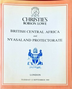 Auction Catalogue BRITISH CENTRAL AFRICA and NYASALAND PROTECTORATE