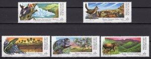 Argentina 1989 Sc#1647/1651 Birds-Lizard-Monkey-Tapir-Natl.Park Set (5) MNH