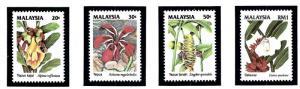 Malaysia 480-83 MNH 1993 Wildflowers