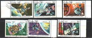 Cuba. 1984. 2844-49. Rockets, space. USED.