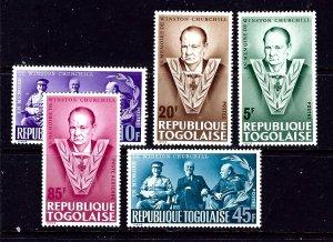 Togo 529-32 and C47 MNH 1965 Winston Churchill