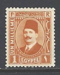 Egypt 128 mint hinged wm 195 (DT)