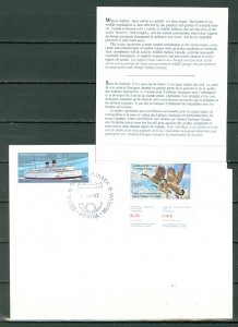 CANADA 1987 GEESE WILDLIFE CONSERV  #FWH3(VAN DAM) on POSTAL MUSEUM COVER