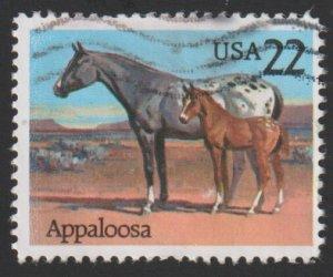 SC# 2158 - (22c) - Horses: Appaloosa - used single