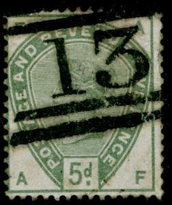 SG193, 5d dull green, FINE used. Cat £210. AF