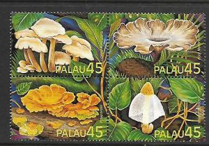 PALAU, 211a (208-211) , MNH, EXOTIC MUSHROOMS
