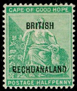 BECHUANALAND SG58, ½d yellow-green, M MINT. Cat £19.