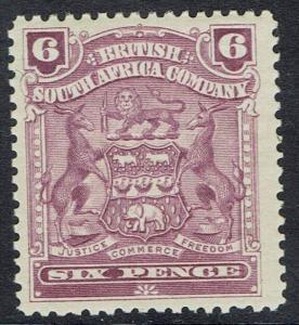 RHODESIA 1898 ARMS 6D