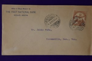 Mexico Cover postal history 349 1913 Revolutionary 1914 cover Nogales AZ