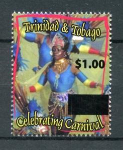 Trinidad & Tobago 2018 MNH Carnival $1 OVPT 1v Set Cultures Festivals Stamps