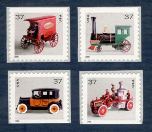 3642a-3645a Antique Toys Dated 2003 Booklet Set Mint/nh Free Shipping (A-383)