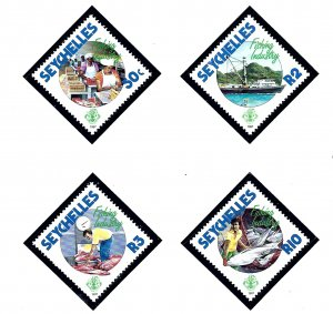 Seychelles 630-33 MNH 1987 Fishing Industry