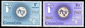 Gambia 210-211, MNH, Centennial of International Telecommunications Union