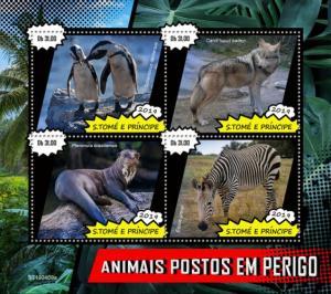 SAO TOME - 2019 - Endangered Species - Perf 4v Sheet - MNH