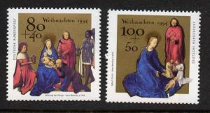 Germany B773-4 MNH Christmas, Art