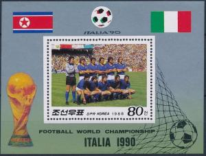 1988 Korea, North 2917/B234 1990 World championship on football of Italien