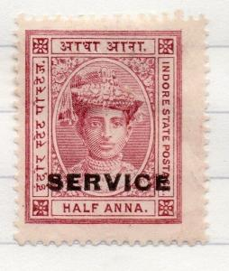 Indore Indian States 1904-06 Early Issue Fine Mint Hinged 1/2a. Optd 207687