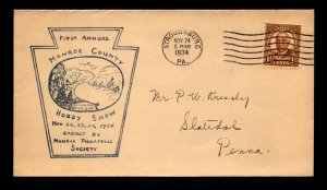 1934 Monroe County PA Hobby Show Cover / Black Cachet - N439