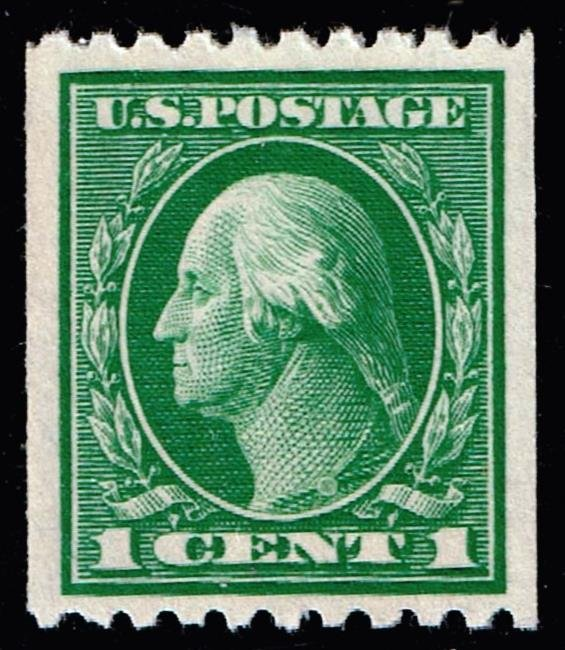 US STAMP #441 1c 1914 Coil STAMP MNH/OG XFS SUPERB