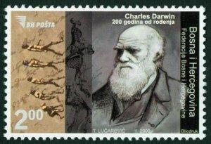BOSNIA&HERZEGOVINA/2009, Anniversary of Charles Darwin's Birth, MNH
