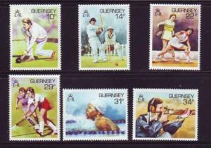 Guernsey Sc 336-41 1986 Sports stamp set NH