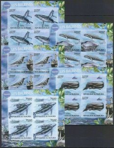 W1240 IMPERF 2012 BURUNDI PROTECTION NATURE MARINE LIFE SAVE THE WHALES 5KB FIX