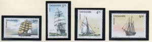 Denmark  Scott 986-89 1993 Sailing Ships stamp set mint NH