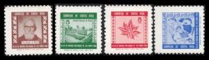 COSTA RICA 1965 POSTAL TAX STAMPS #RA24-27 MNH COMPLETE SET OF 4