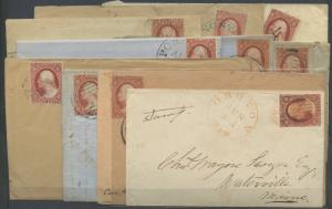 #10, #10A SHADES ON 10 COVERS (COPPER BROWN) MIXED CONDITION CV $3,190 HV9984
