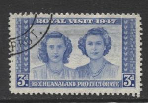 Bechuanaland - Scott 145 - KGVI - Royal Visit -1947 - Used - Single 3p Stamp