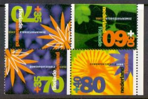Netherlands 1992 MNH combination from booklet PB 45 flowers 2 x 70 + 60 + 80ct