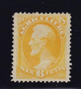 O4 VF+ original gum lightly hinged with nice color cv $ 260 ! see pic !